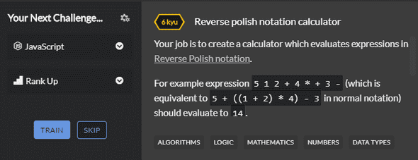 Codewars reverse polish notation question